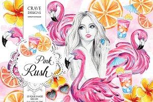 Pink Rush Clip Art
