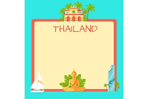 Thailand Touristic Vector Concept with Copyspace
