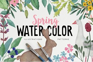 Spring & Easter Watercolor set