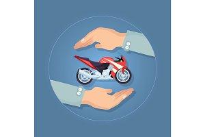 Modern Motorbike Insurance, Service Company Logo.
