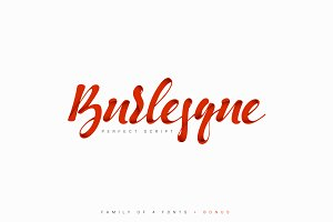 Burlesque. Pack of 4 Fonts