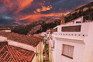 Sunset in Spanish village Chulilla