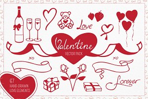 Valentine Vector Elements Collection