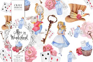 Alice in Wonderland Clip Art