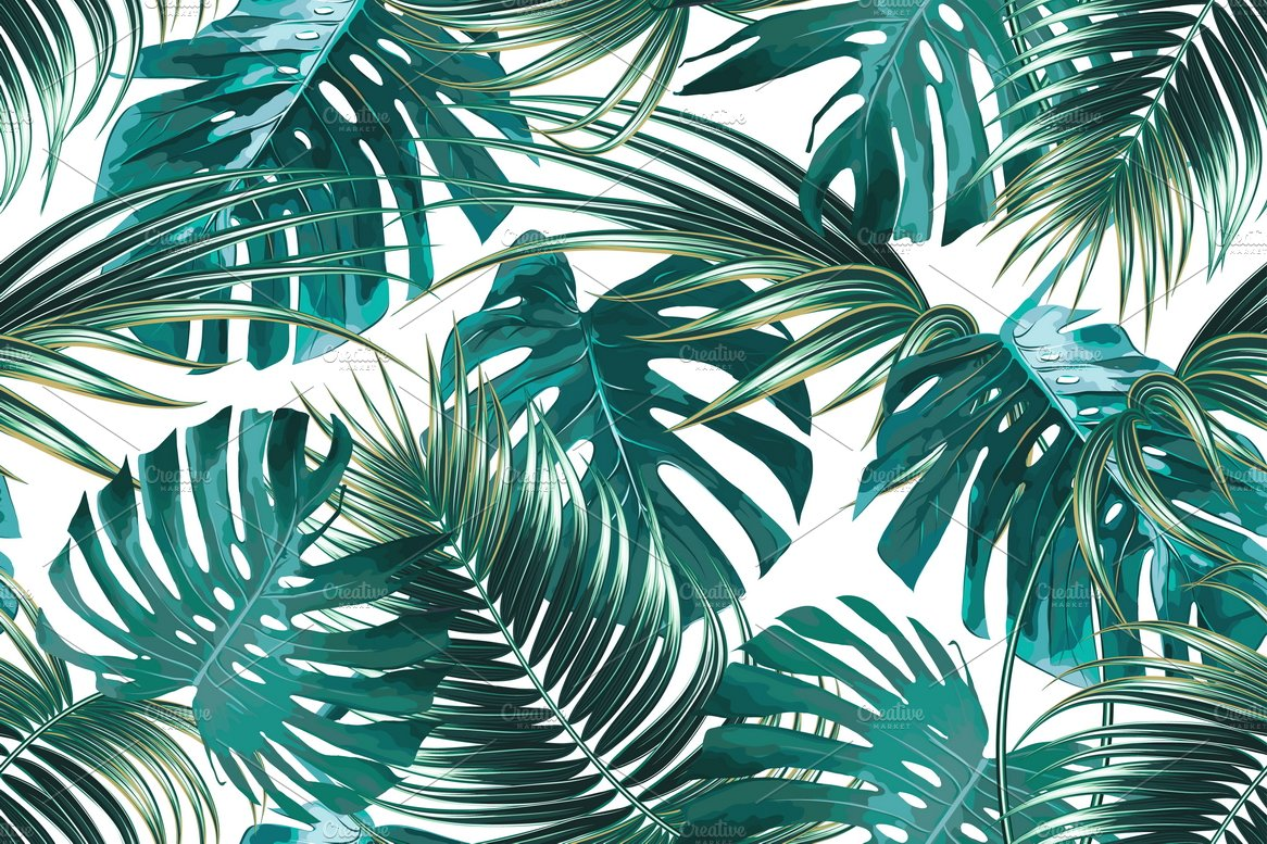 Aninimal Book: Tropical jungle leaves pattern ~ Graphic Patterns ...
