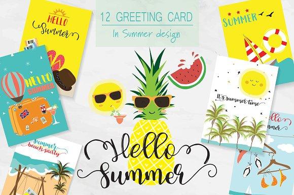 12 Cute Summer Cards