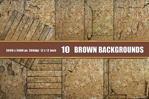 10 Wood backgrounds brown grunge