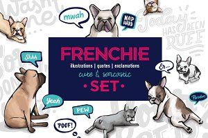French bulldog - cute & sarcastic