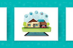 Smart Home Technologies Vector Set