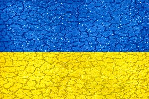 Ukraine Grunge Style National Flag