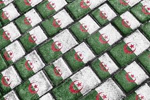 Algeria Flag Urban Grunge Pattern