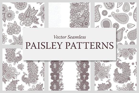 Paisley Seamless Patterns