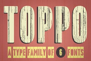 Toppo family fonts – 50% off