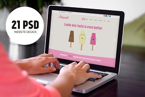 Sweet Website psd template