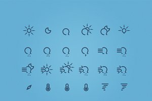 "175 Weather Icons | ""Just Rain"""