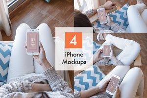 4 iPhone Mockups