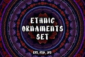 Ethnic Ornaments Set