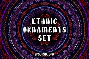 Tribal Ethnic Ornaments Set