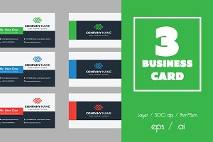 3 Business Card Templates