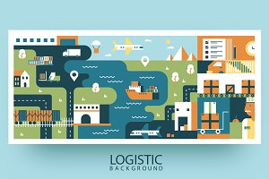 Transportation logistic background
