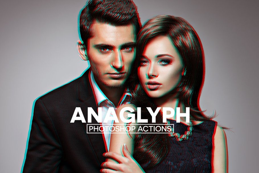 Anaglyph 3D Photoshop Actions ~ Photoshop Add-Ons ~ Creative