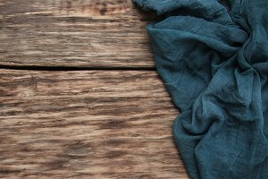 Napkin on a old wooden background