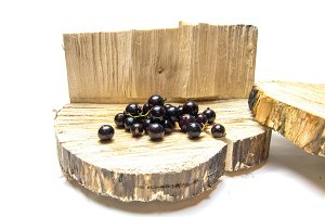 Currant. Currants on the stump. a wooden background.