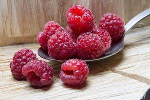 Raspberry. Wild, home berries.