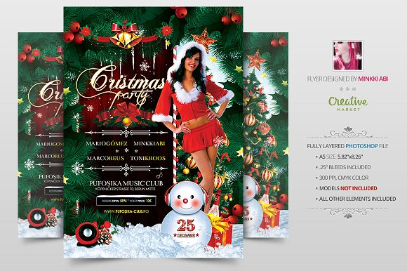 Christmas Party Flyer | Poster