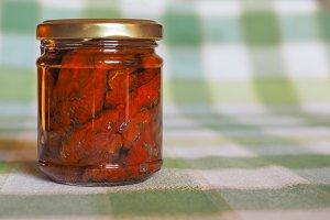 Jar of sundried tomato