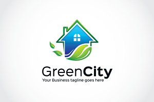 Green City Logo Template
