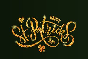 St. Patrick's Day Golden Typography