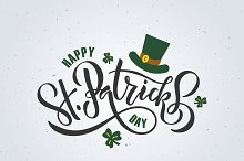 St. Patrick's Day Lettering Poster