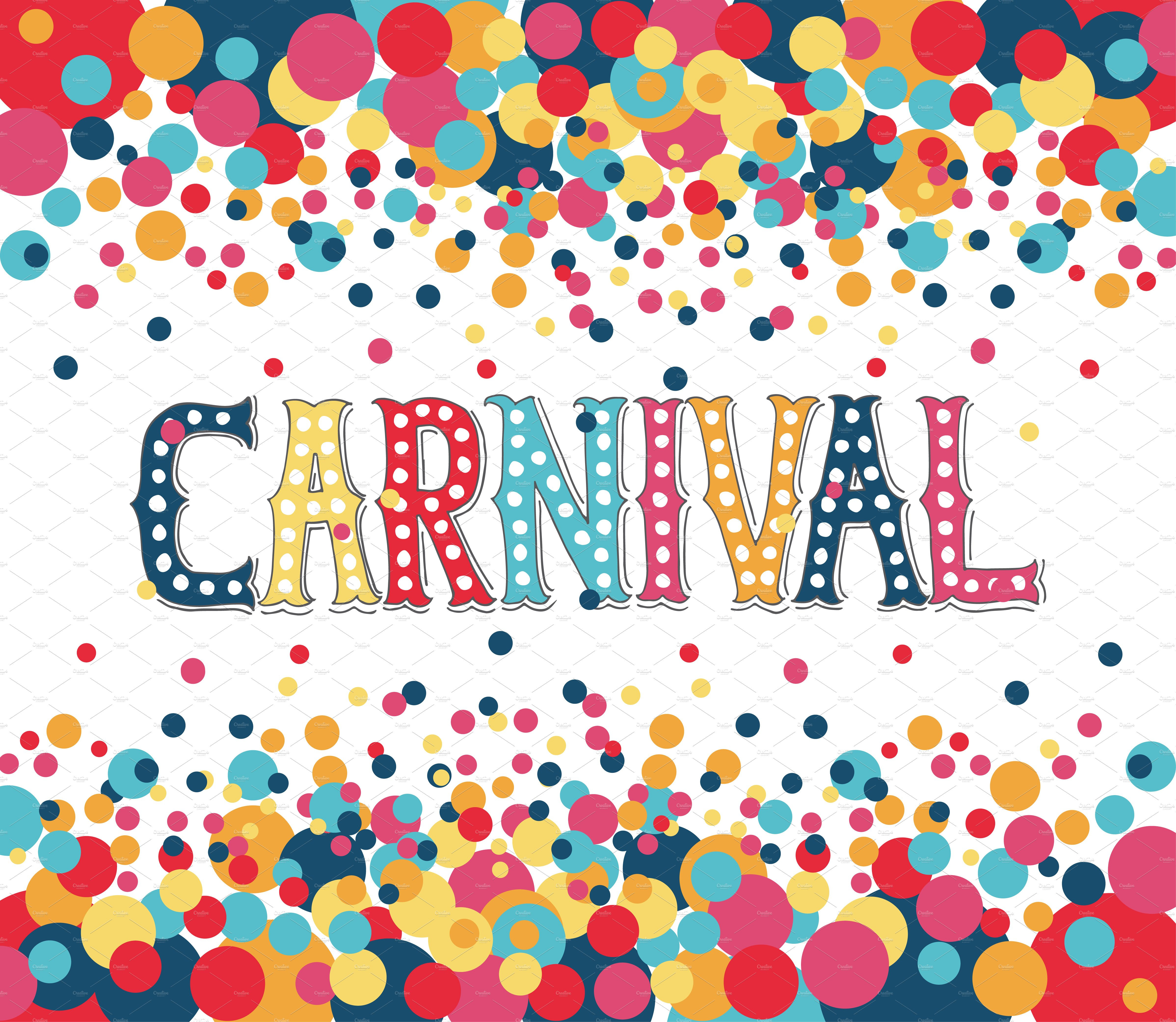 carnival poster design template templates creative market