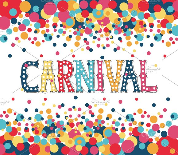 Carnival Poster Design Template ~ Templates ~ Creative Market