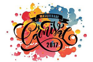 Carnival Watercolor Card Design