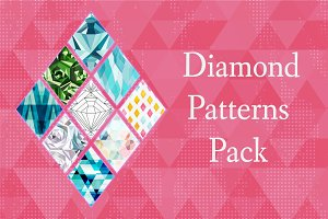 Diamond vector patterns pack
