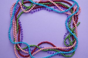 holiday or mardi gras beads makingframe