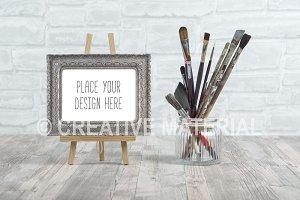 Frame Mockup | Paint Brushes | #18