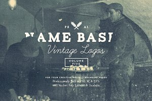 13 Name Based Vintage Logos Volume 5