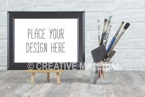 Frame Mockup | Paint Brushes | #20