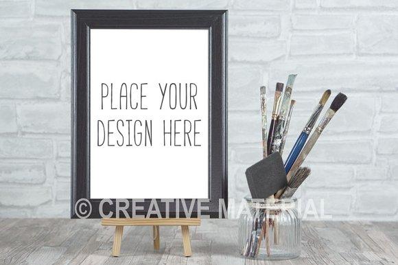 Mockup Frame Paint Brushes #21