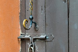 Rusty old door handle