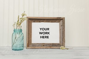 Barn Wood Frame Styled Mock Up