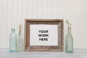 Vintage Barn Wood Frame Styled Photo