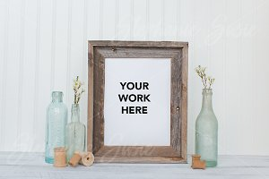 Vintage Barn Wood Frame Styled