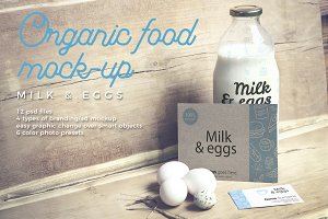 Organic Food Mockup / Milk & Eggs