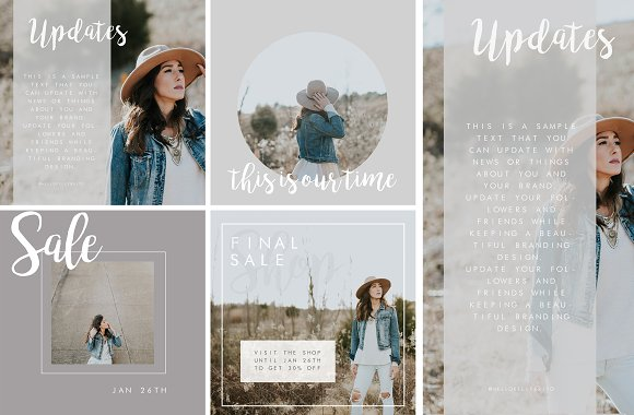 Premade Social Media Post Templates Templates Creative Market - Social media post template
