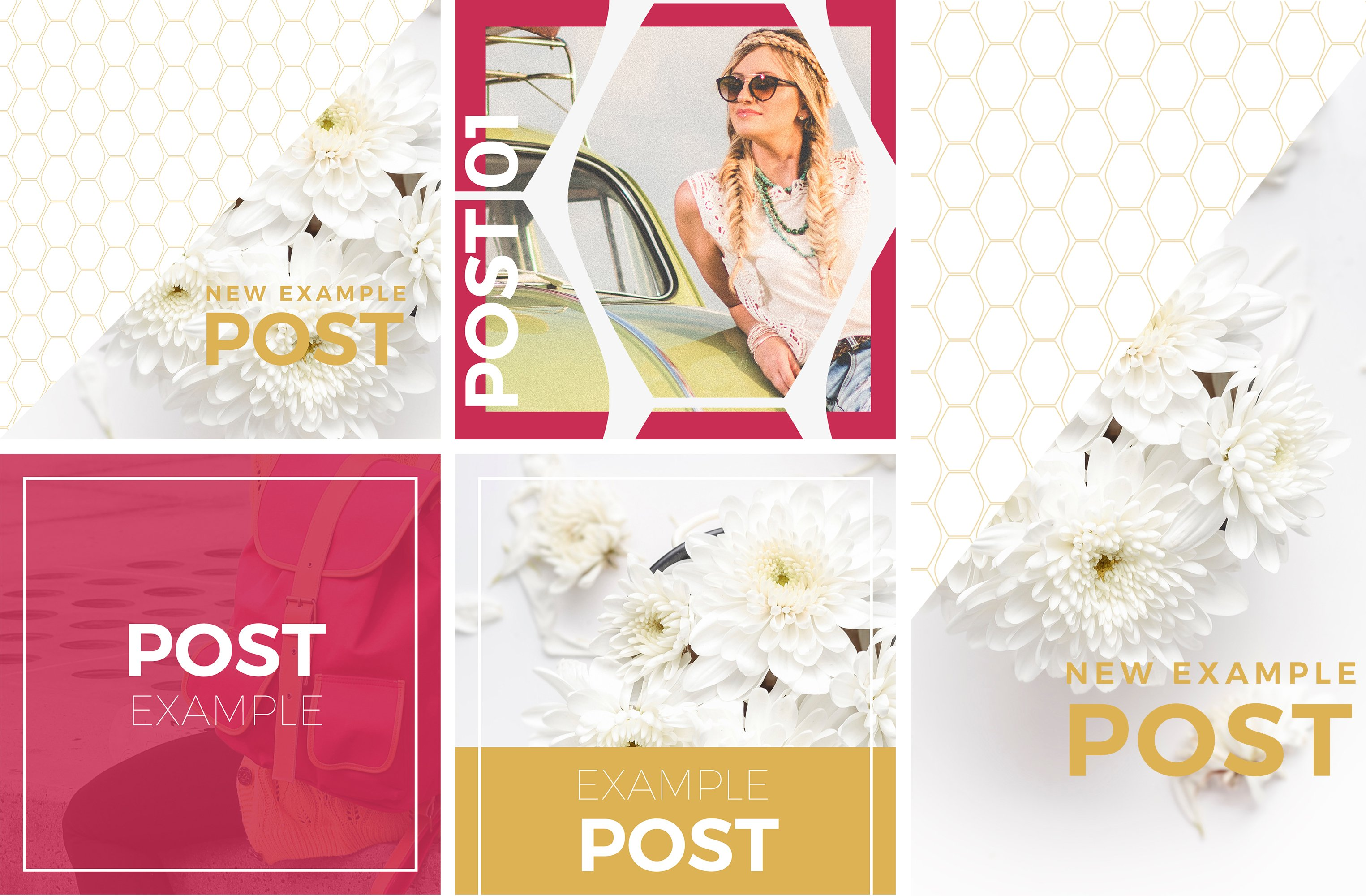 Social Media Post Templates DelRío Templates Creative Market - Social media post template