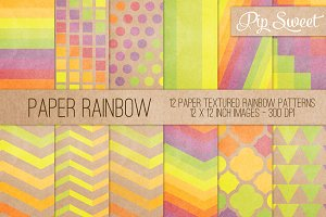 Paper Rainbow 12 Pattern Set